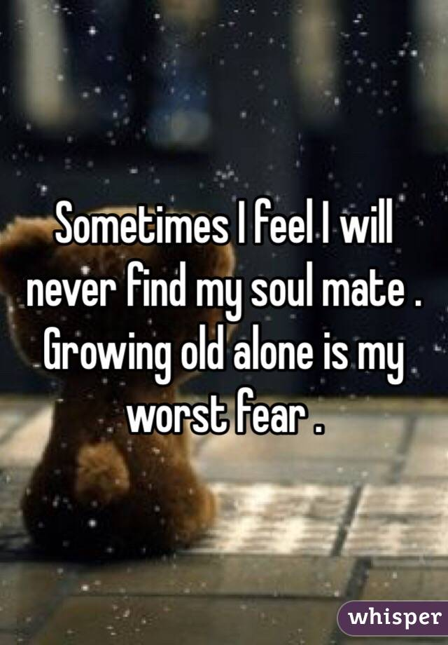 Growing old alone