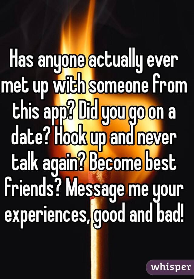 hook up and never talk again