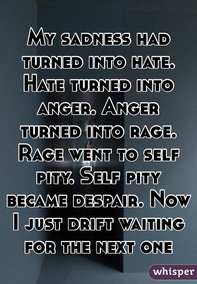Rage Anger Hate Hate Turned Into Anger