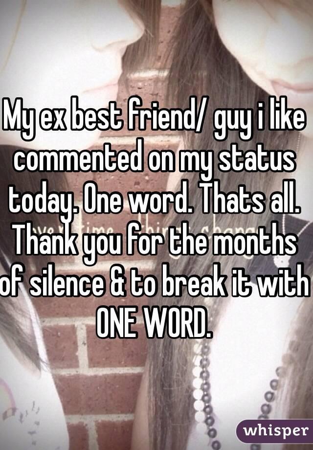 Liking Best Friends ex my ex Best Friend/ Guy i Like