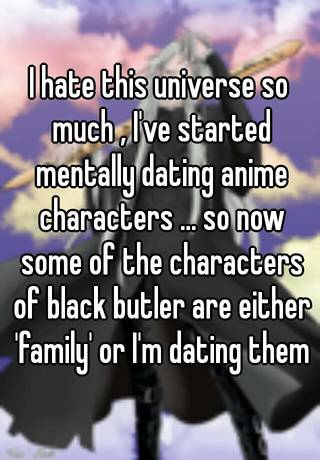 mentally dating an anime character