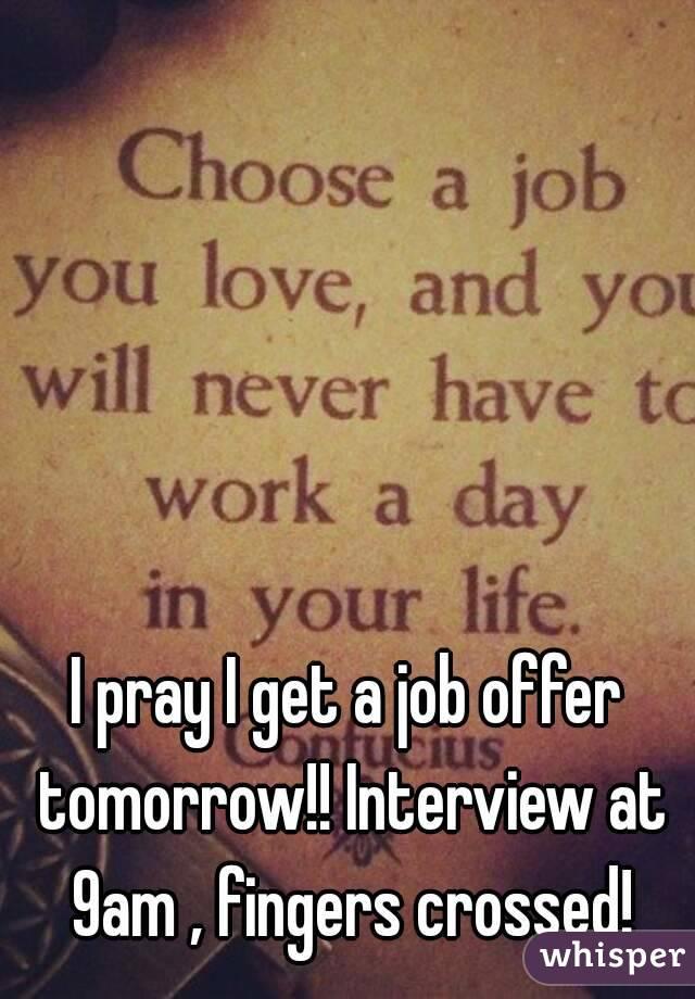 Prayer to get a job interview