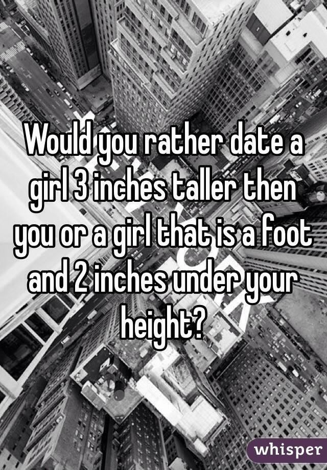 Dating a girl taller than you reddit