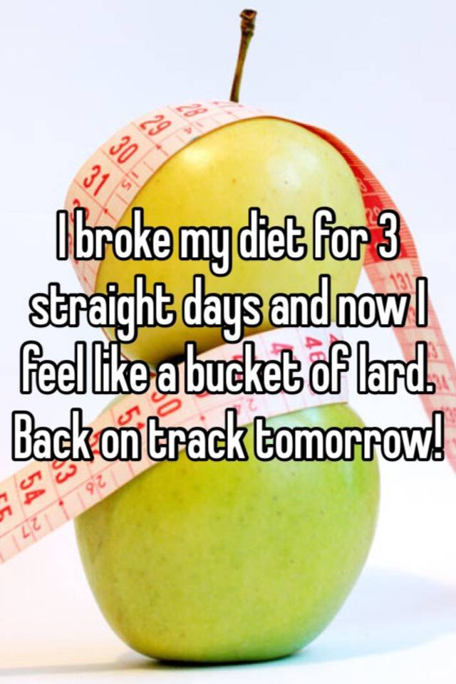 i broke my diet for two days