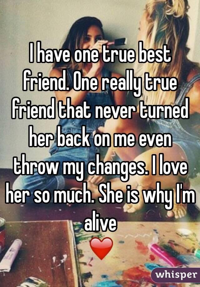 Is she even my true friend?