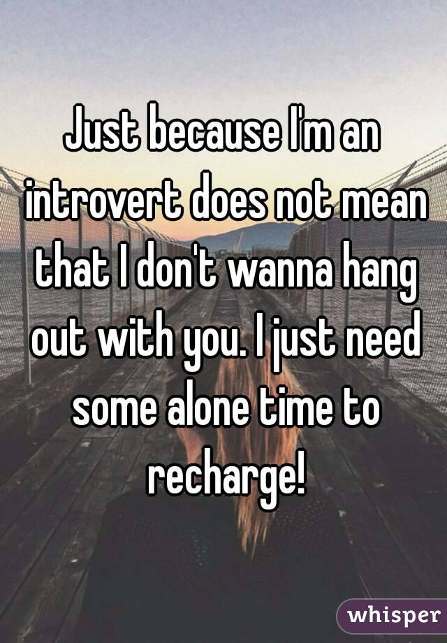 Does this mean Im an introvert?