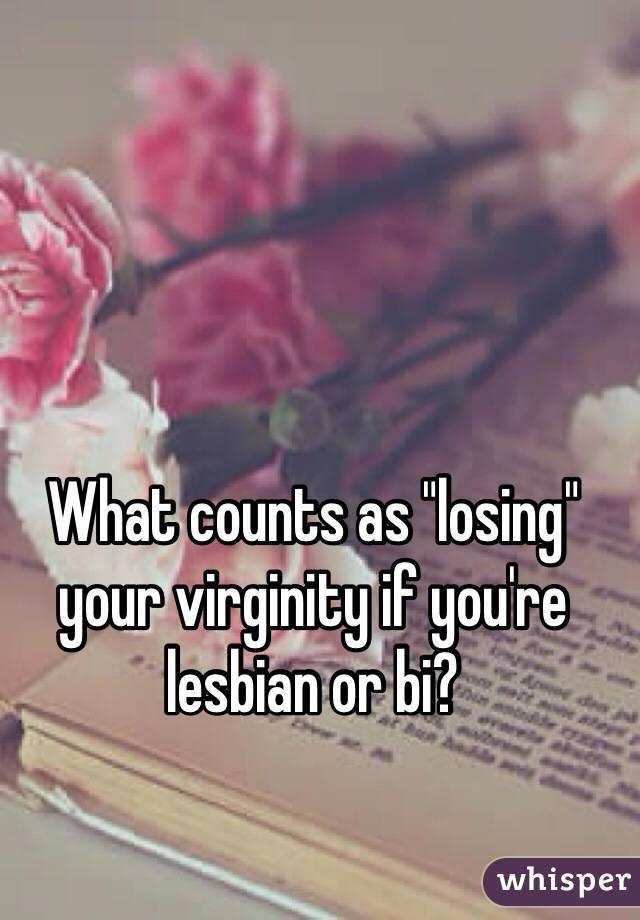 Lesbians losing virginity