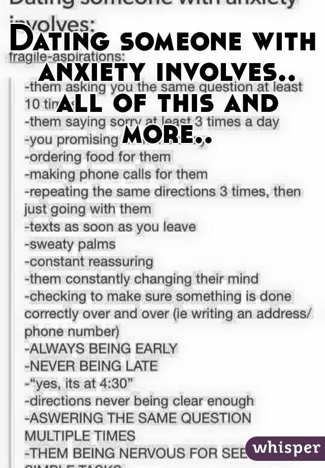 someone with anxiety involves.. all of this and more..