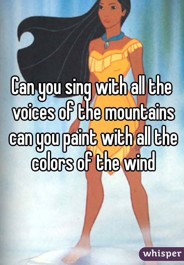 Pocahontas - Colors of the Wind (Disney Song) - YouTube