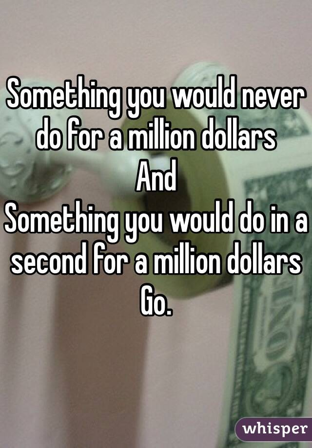 if you had million dollars to spend on charity how would you spend it The irs allows you to pass on $543 million when you die tax-free, and $1086 million per couple if you're able to accumulate such levels of wealth, you might as well figure out how to spend or give away every dollar above those thresholds.