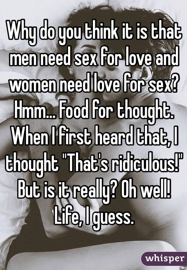 why men think about sex
