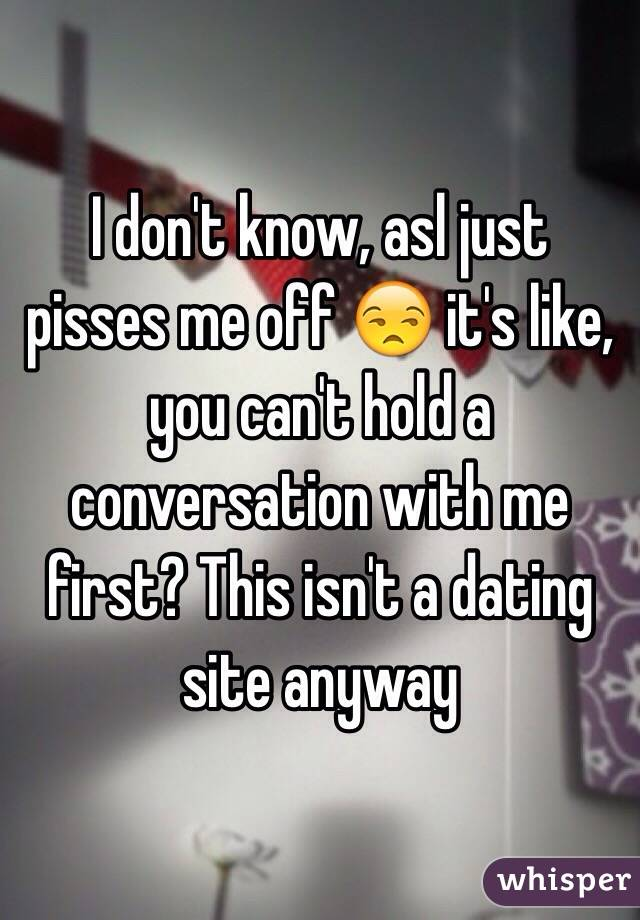 asl dating sitedating shows australia