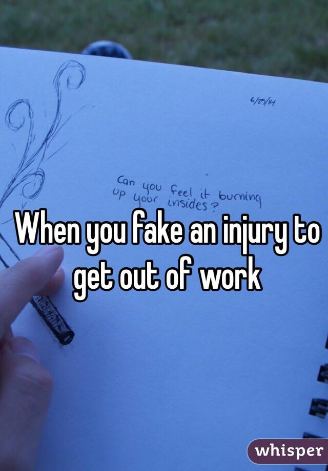 how to fake sick to get out of work