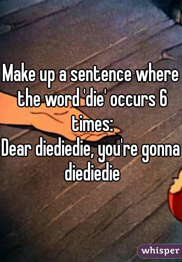 Re word a sentence
