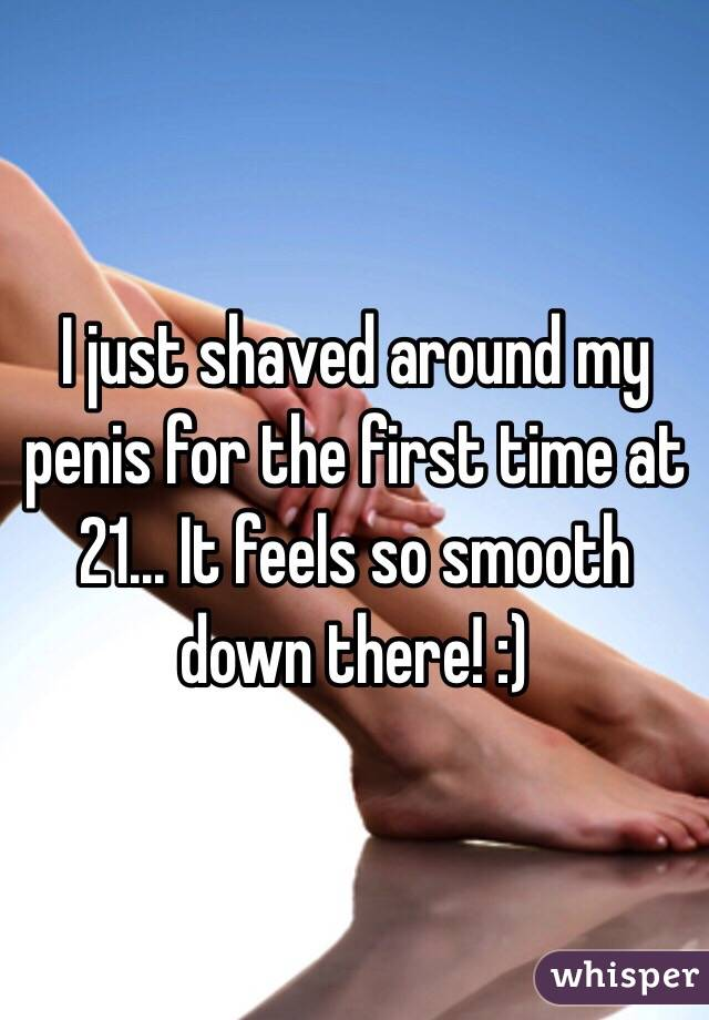 Shaved penis feels nice