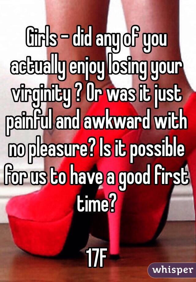Losing your virginity for the first time