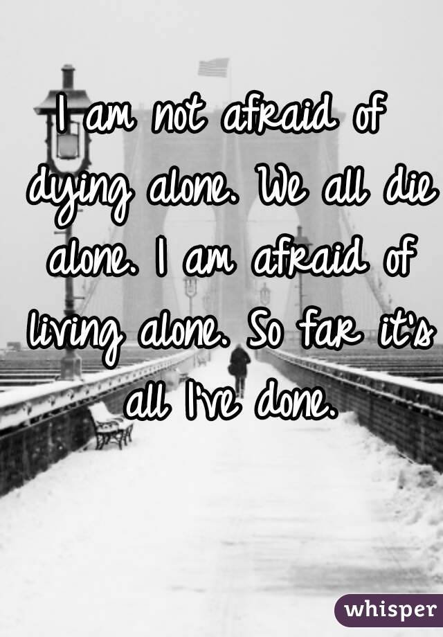 The Fear of Dying Alone promo by Buttons23 on DeviantArt