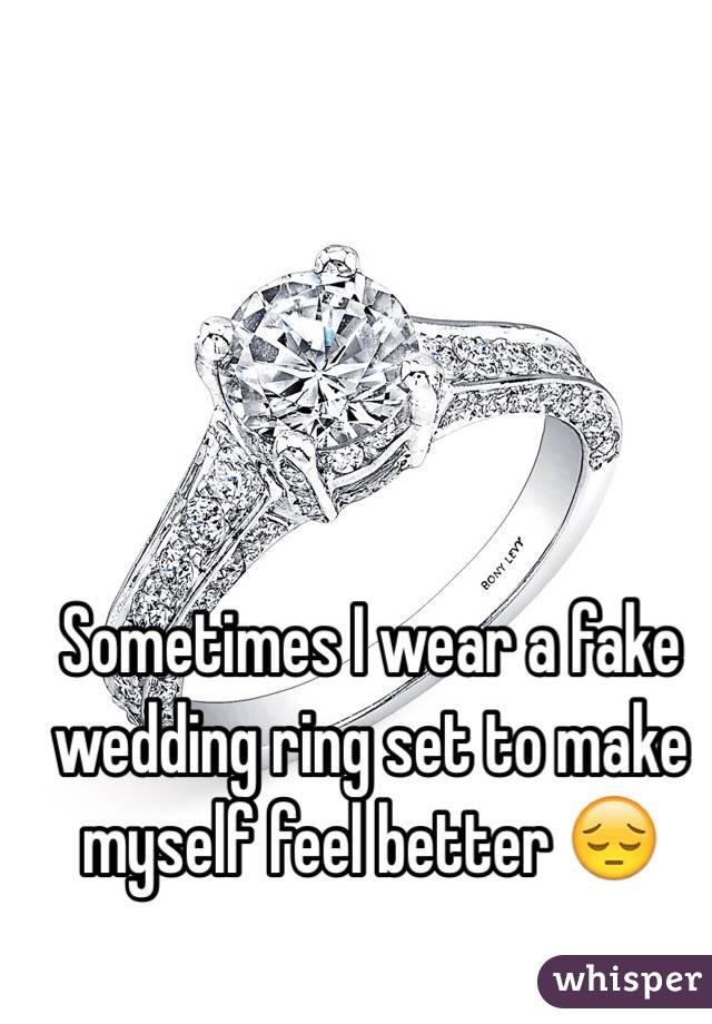 i wear a fake wedding ring