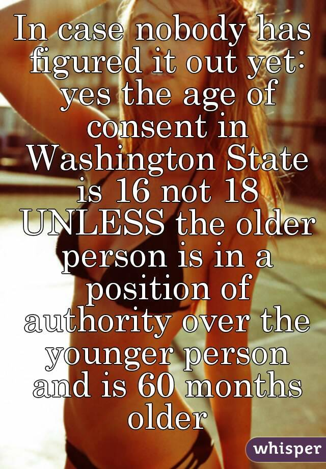 Washington state dating age laws