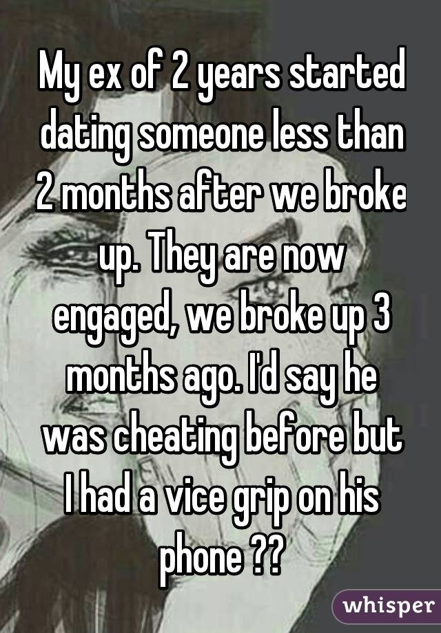 Dating someone who was engaged
