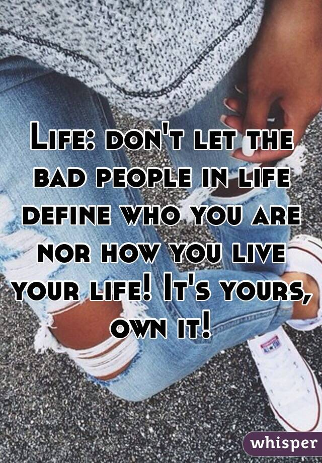How do you define who you are?