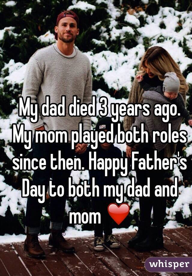 My mom died and my dad is dating