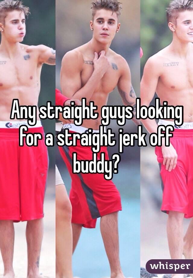 Straight buddies jerk off