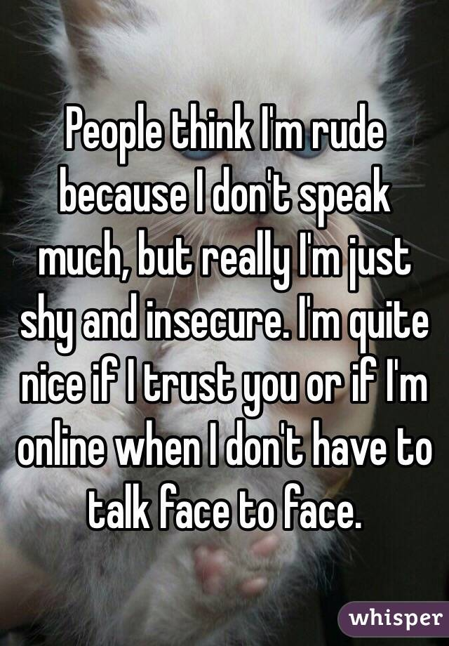 Do you think I was rude?