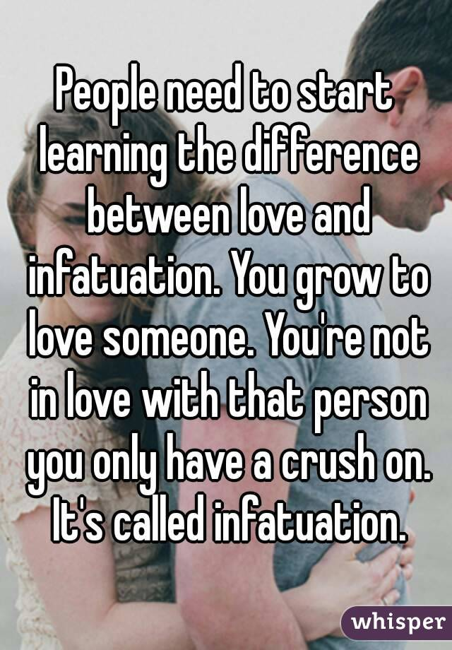 how to know if its infatuation or love