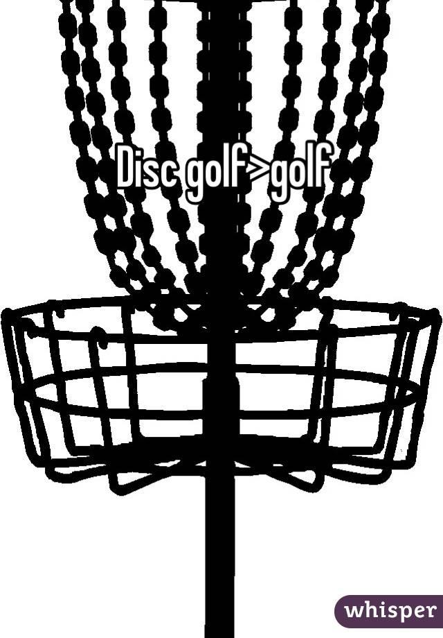 Disc golf>golf