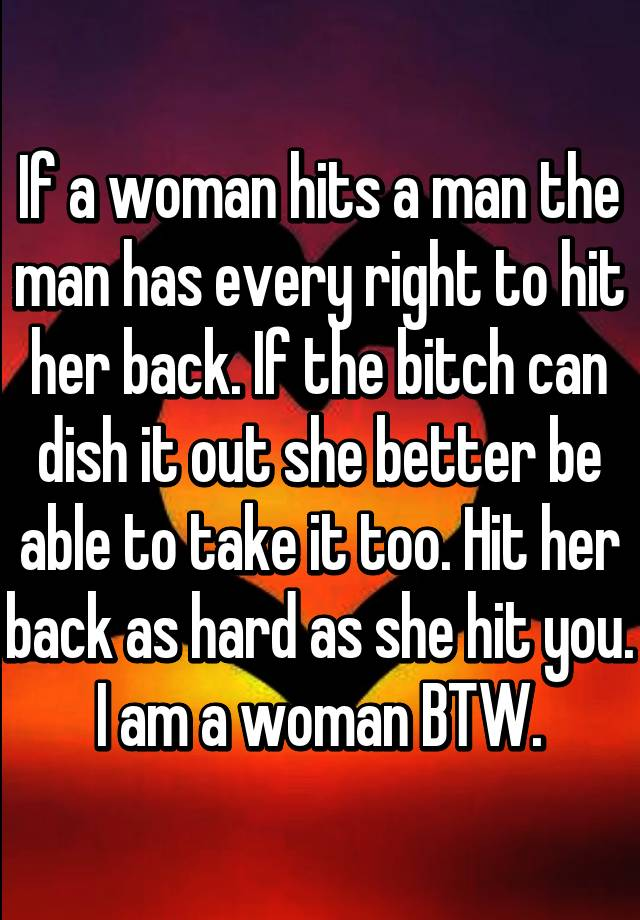 Why a man hits a woman