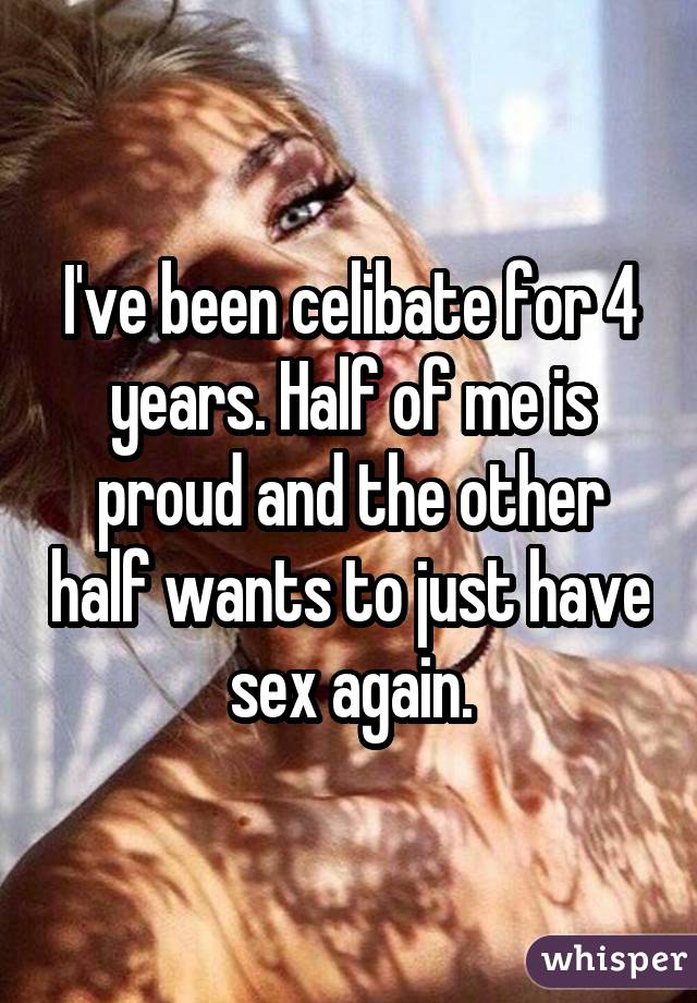 having sex after years of celibacy