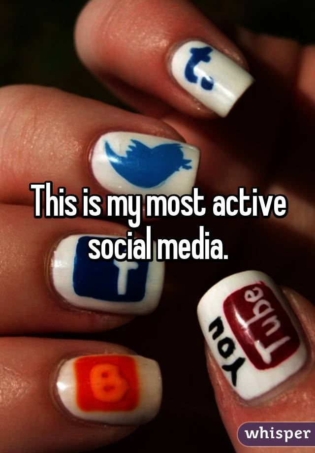 This is my most active social media.