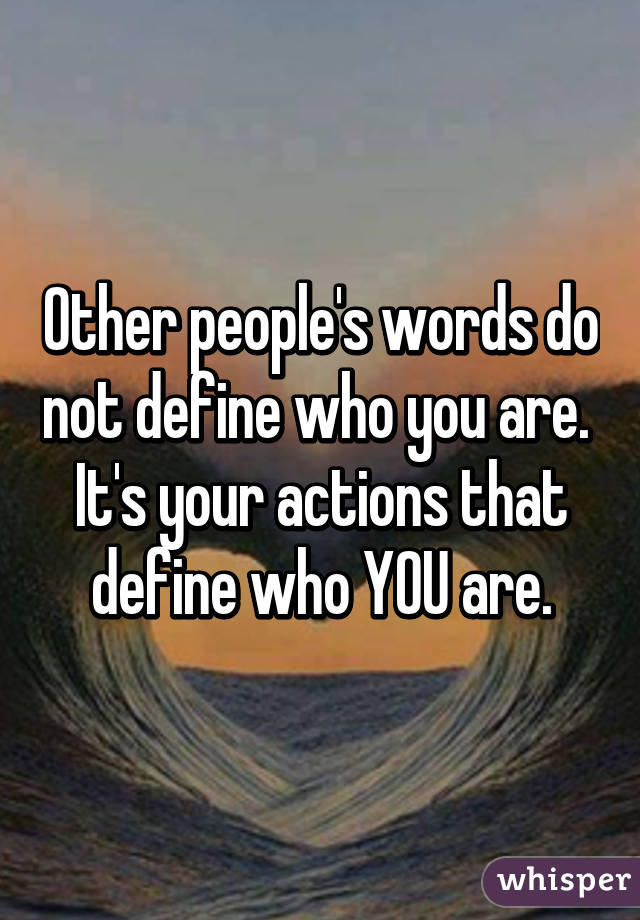 Image result for words do not define you