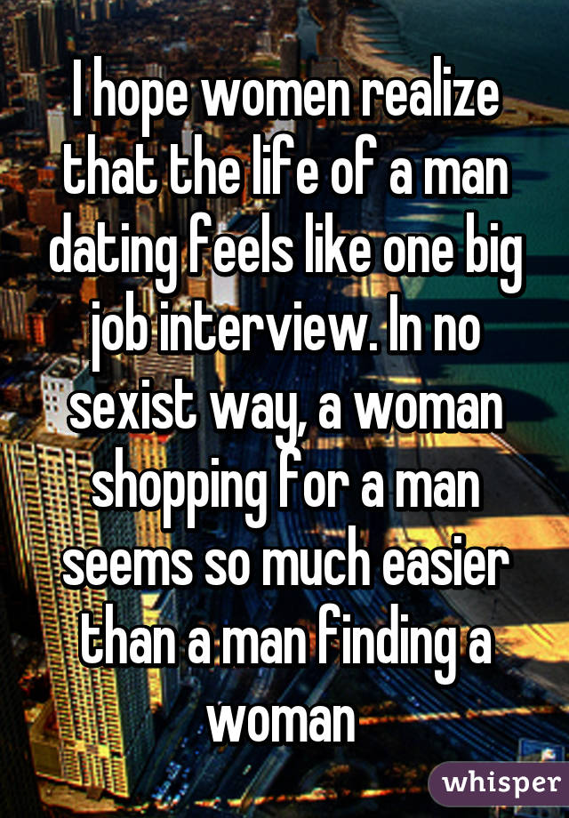 dating like job interview