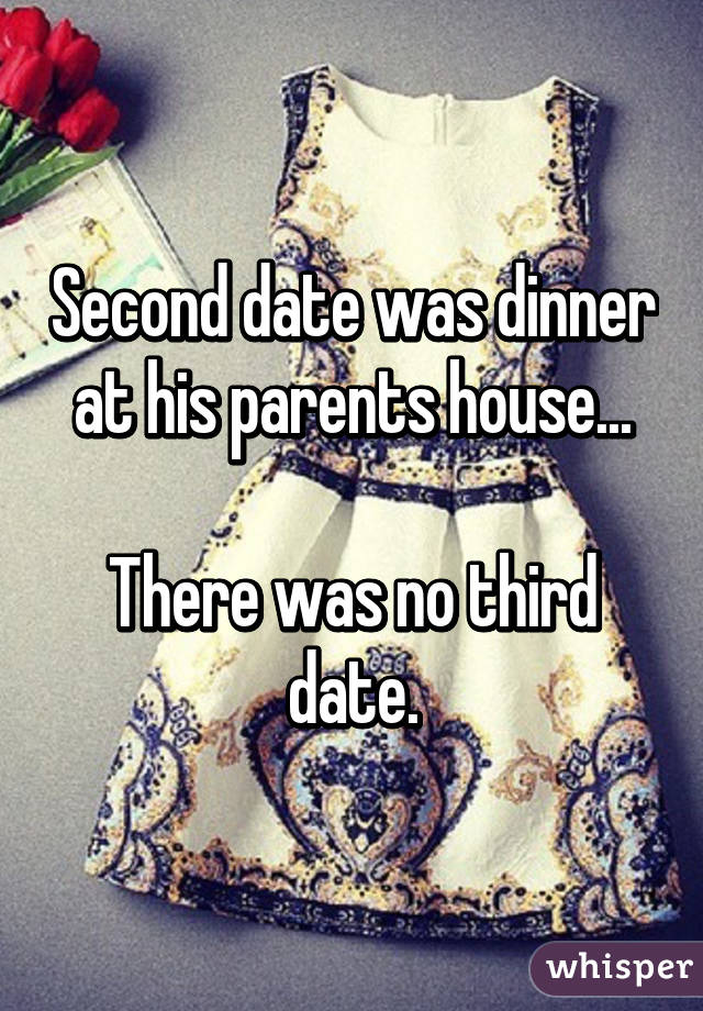 Second date dinner at his house