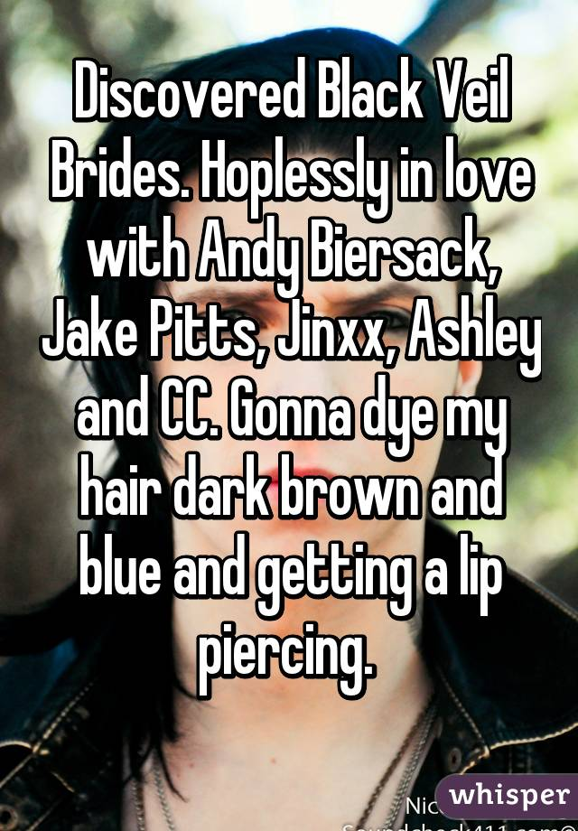 Discovered Black Veil Brides. Hoplessly in love with Andy Biersack ...