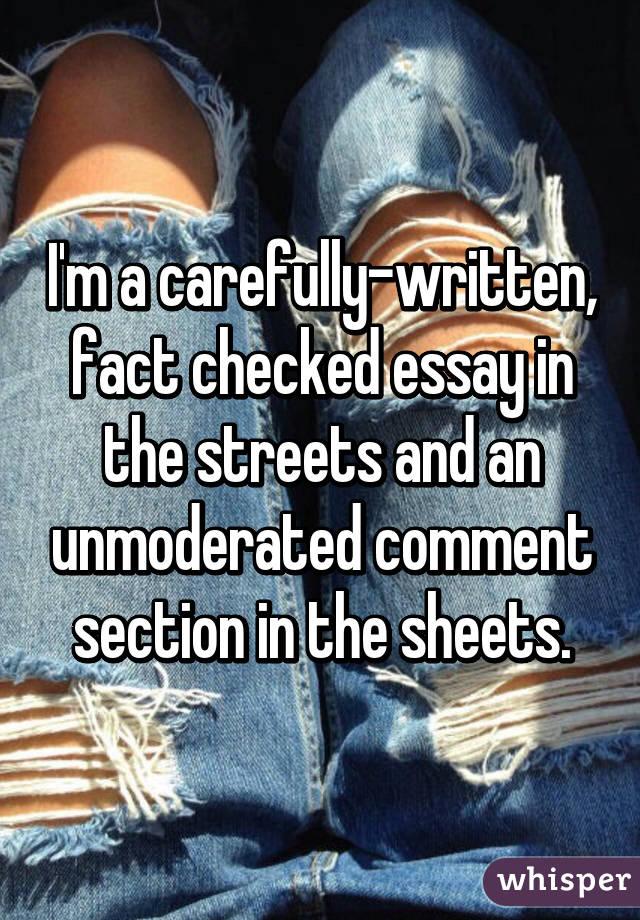 Fact essay