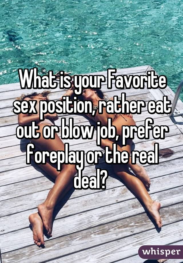 What's Your Favorite Position To A Blowjob? 2