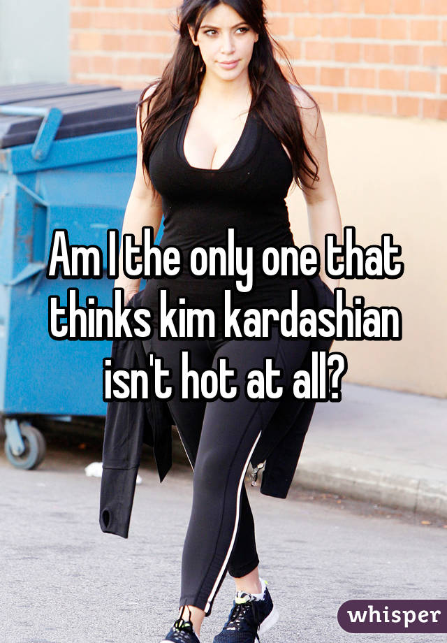Am I the only one that thinks kim kardashian isn't hot at all?