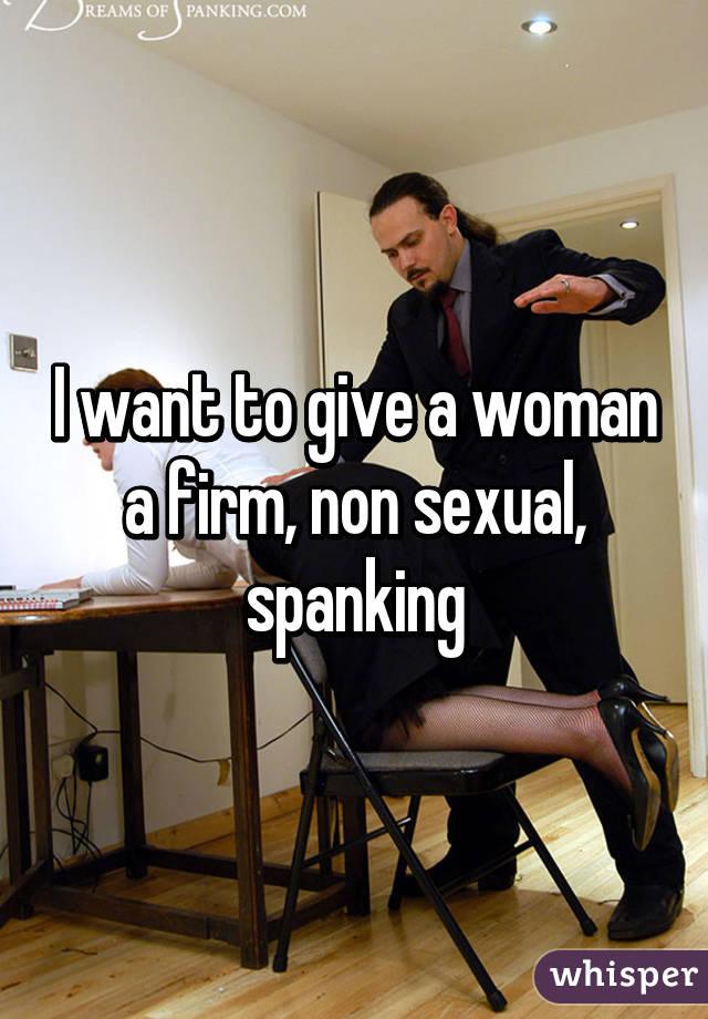 non sexual spanking