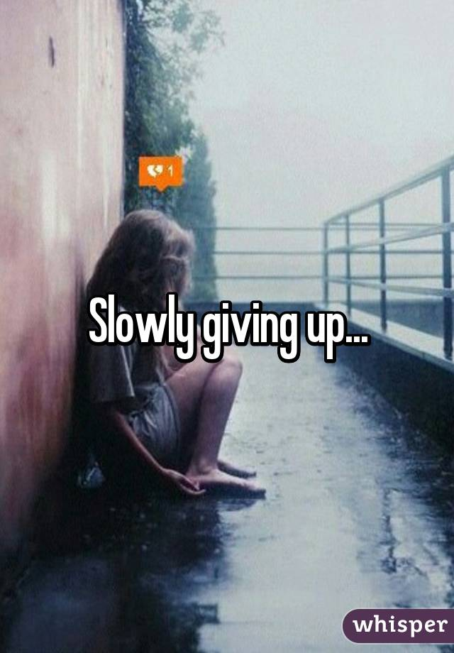 Slowly giving up...