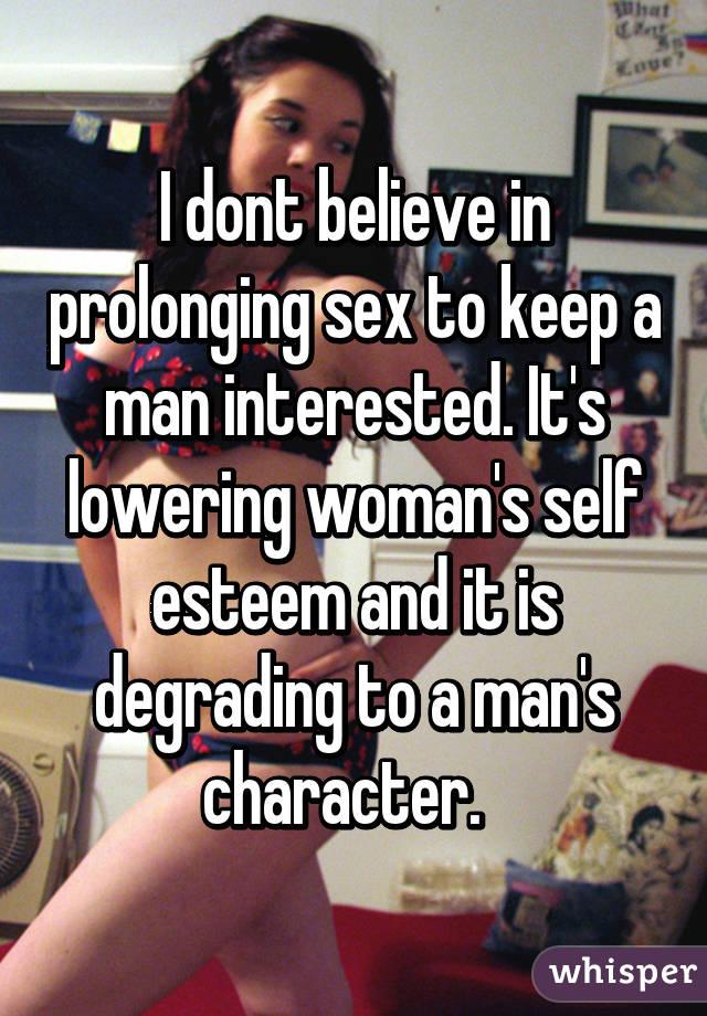 Prolonging Sex 111