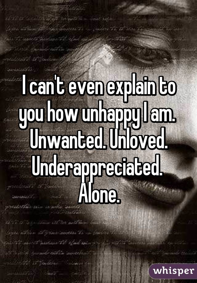 Unwanted Unloved And Alone Unwanted Unloved