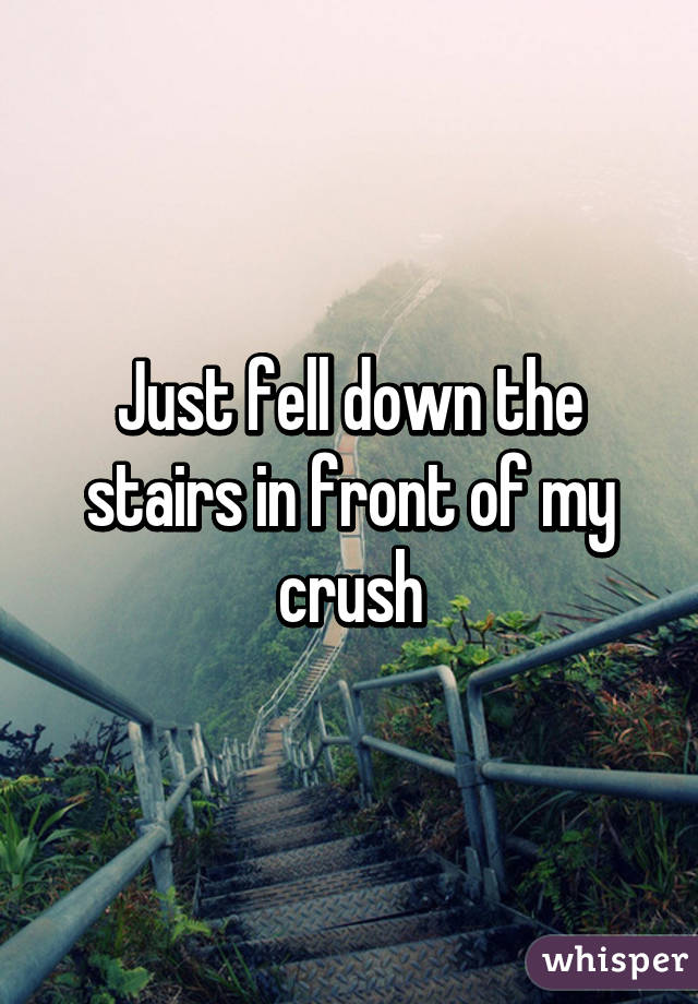 Just fell down the stairs in front of my crush
