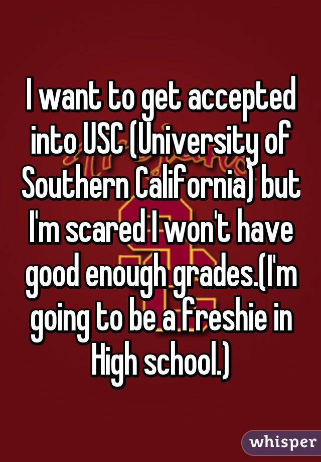 Is this enough to get into USC?