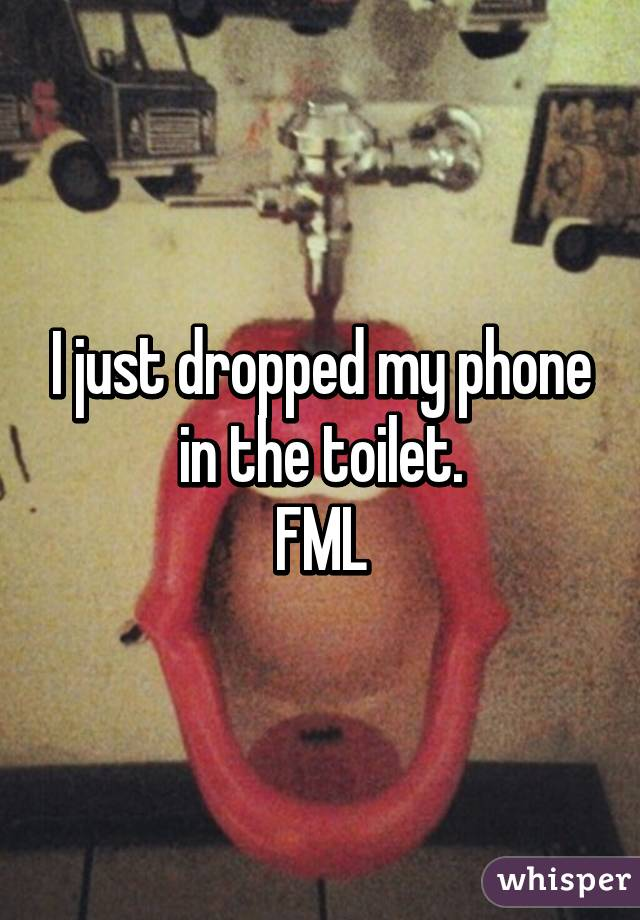 I just dropped my phone in the toilet. FML