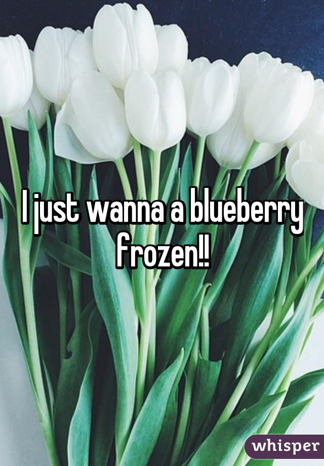 I just wanna a blueberry frozen!!