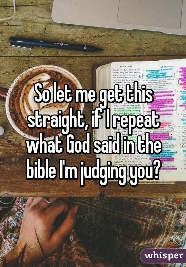 jesus says judging you