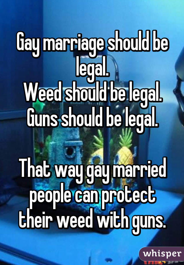 gay marriage should be illegal essay Gay marriage is a very big issue in this country some people believe that same-sex couples should h.